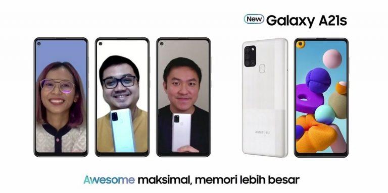 Galaxy A21sDidukung Memori Besar, Visual Konten Toko Online Makin Awesome