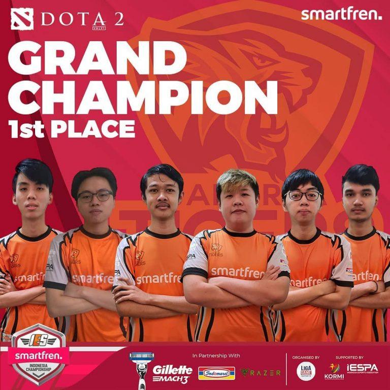 Resmi Berakhir, Inilah Wajah Juara Turnamen IES Smartfren Indonesia Championship 2020