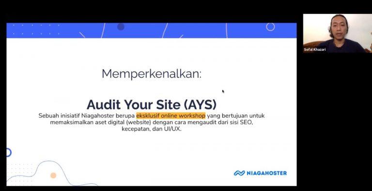 Bantu UMKM Melakukan Proses Audit Pada Website Bisnisnya, Niagahoster Perkenalkan 'AYS'