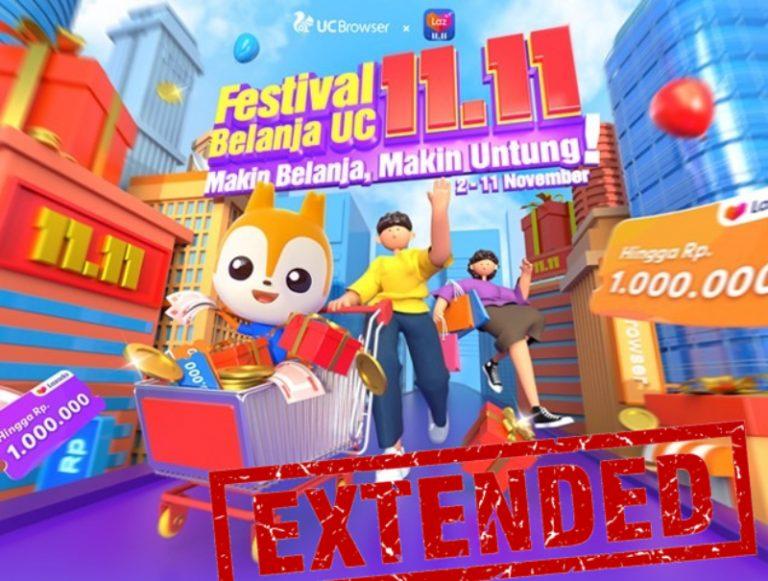 Animo Masih Tinggi, UC Browser dan Lazada Sepakat Perpanjang Festival Belanja 11.11