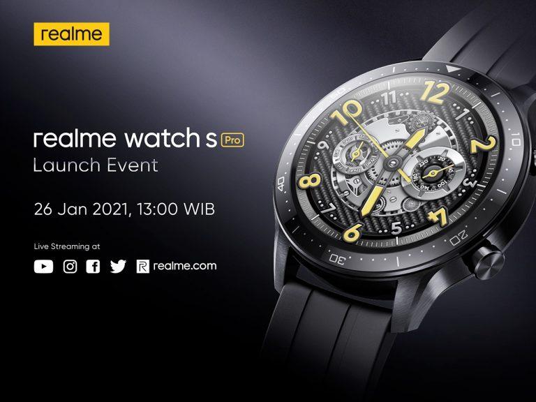Confirm, Minggu Depan Realme Akan Luncurkan Realme Watch S Pro