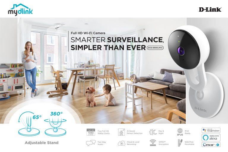 D-Link Perkenalkan DCS-8300LHV2, Kamera Pengawas Canggih Berbasis AI Terintegrasi