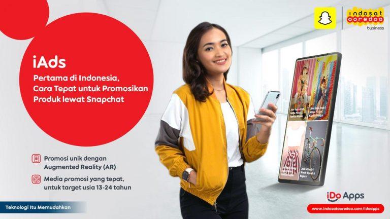 Hadirkan Iklan dengan Teknologi Augmented Reality, Indosat Ooredoo Gandeng Snapchat