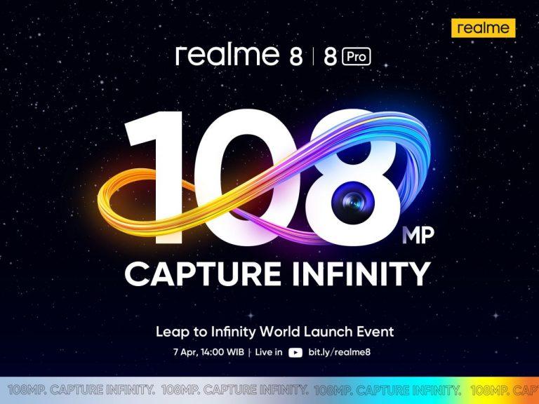 Siap-siap, Realme 8 Pro dengan Kamera 108 MP akan Dirilis Hari Ini!