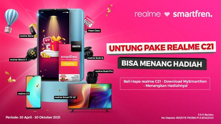 Smartfren Tawarkan Bundling bersama Realme C21, Berkesempatan Dapat Banyak Hadiah