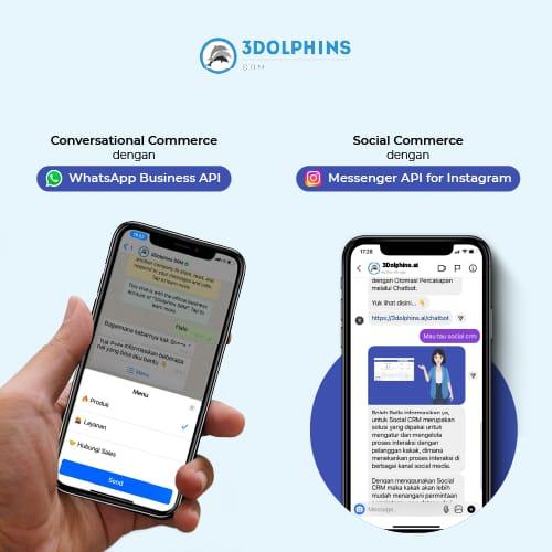 3Dolphins SRM Hadirkan WhatsApp Business API dan Messenger API for Instagram sebagai Solusi Customer Experience