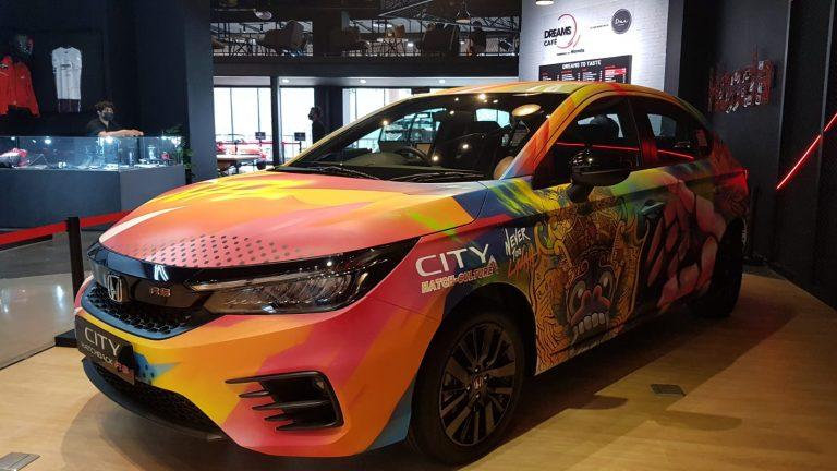 Honda City Hatchback RS Hasil Kolaborasi NeverTooLavish dan Pemenang City Hatch Art Mejeng di Dreams Café