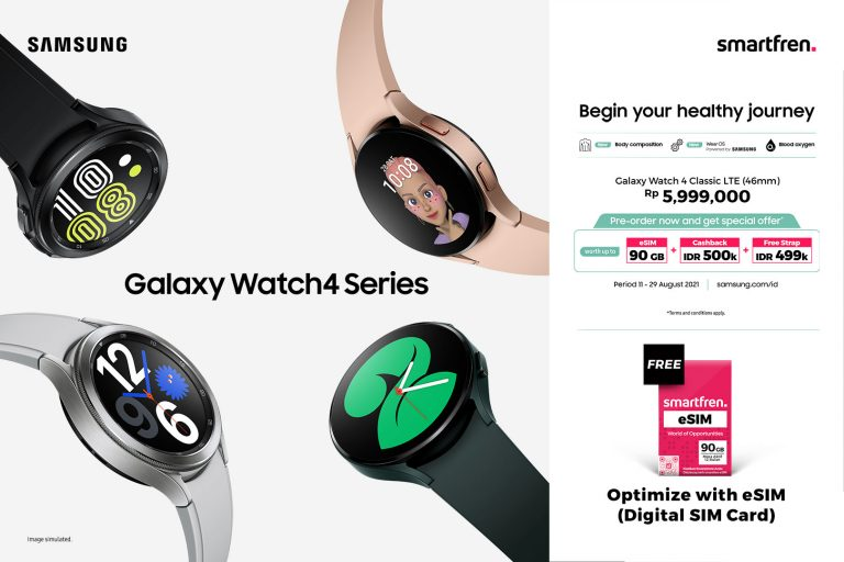 Eksklusif Smartfren eSIM untuk Samsung Galaxy Watch4 Classic LTE, Makin Optimal dengan Kuota 90 GB