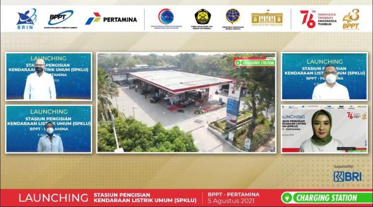 Pertamina & BPPT Resmikan 2 Stasiun Pengisian Kendaraan Listrik Umum