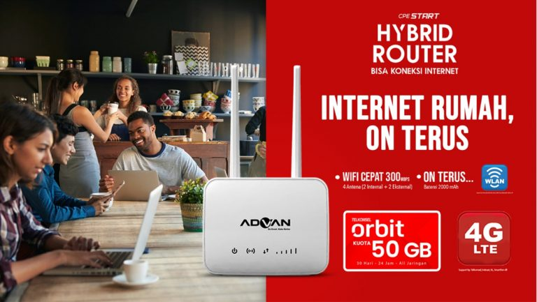 Kolaborasi Advan dan Telkomsel Hadirkan Orbit CPE Hybrid Router