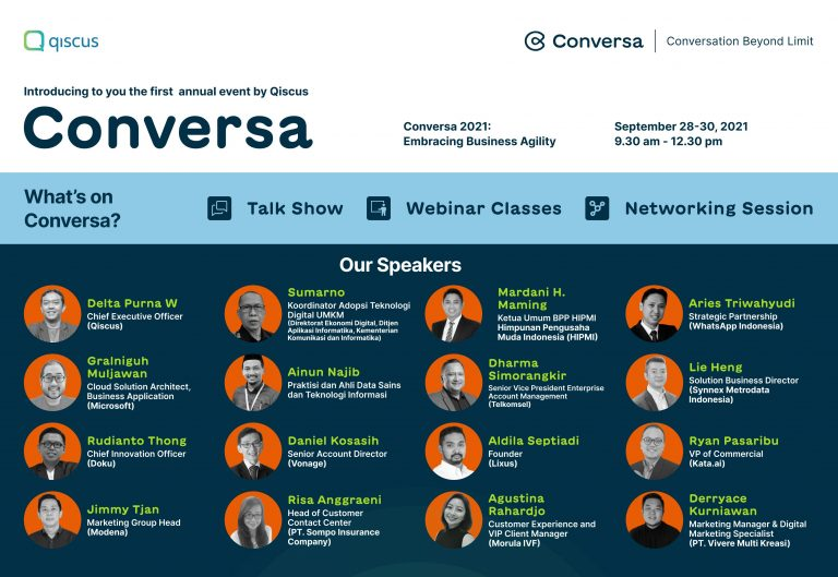 Qiscus Resmi Membuka Conversa 2021, Konferensi Tahunan Perdana yang Digelar Secara Virtual