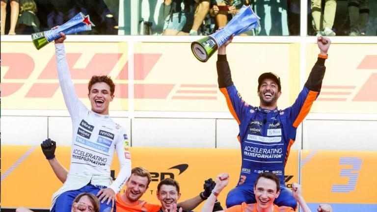 Daniel Ricciardo Menangi F1 GP Italia 2021, McLaren Finish 1-2