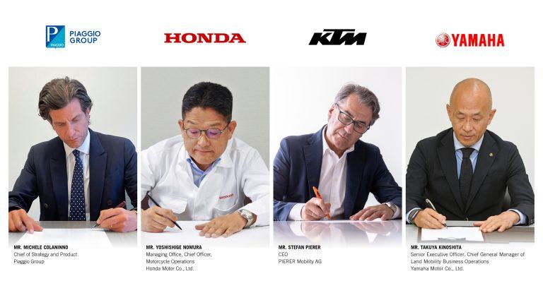 Empat Produsen Otomotif Dunia Teken Perjanjian Konsorsium Pertukaran Baterai Sepeda Motor