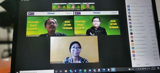 Kolaborasi Oppo, FORWAT, dan AJI Distribusikan Donasi Rp100 Juta untuk Jurnalis Terdampak Covid-19